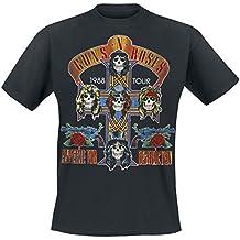 Guns N' Roses Tour 1988 Camiseta Negro