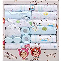 Newborn Clothes Set of 18 pcs Spring and Summer Cotton New Born Baby Gift Box Full Moon Baby Clothing Supplies 47