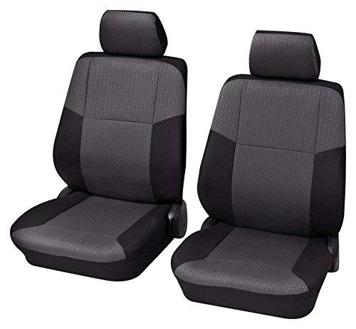 Premium Kunstleder Sitzbezüge Sitzbezug Schonbezüge für SAAB 9.5 Grau Set