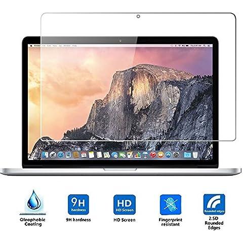 Apple Macbook Pro Retina 13'' Cristal Templado,Vikoo 9H 0.3mm Ultra Delgado Shatterproof Pantalla de Vidrio Templado HD Flim Tempered Glass Screen Protector para Apple Macbook Pro 13''