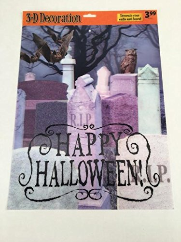 Mello Smello 3D Gruselige Halloween-Poster Happy Halloween - Graveyard (3d Happy Halloween)