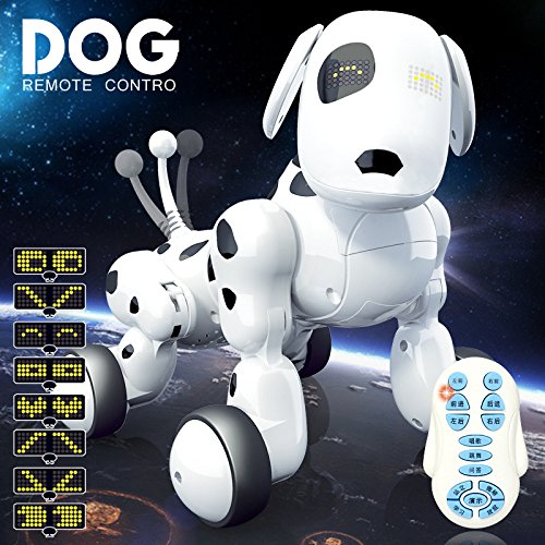 KYOKIM Drahtlose Fernbedienung Intelligente Roboter Hund Spielzeug Nützliche Weisheit Elektrische Haustier Hund Spielzeug (Chinesische Version und Englische Version),English