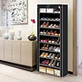 AllRight Dustproof 10 Tier Shoes Cabinet Storage Organiser Shoe Rack Stand Holds 27 Pairs