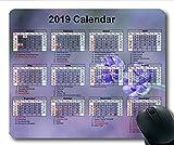 2019-2020 Kalender-Mauspad-Matte, EIN Kalender Gaming-Mauspad, Kalenderplaner 2019 mit Feiertagsdetails