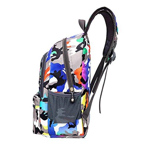 Super Modern Unisex Nylon School Bag Children's Backpack Hiking Backpack Cool Sports Backpack Blue&Purple