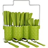 Doma Emperor Stainless Steel Cutlery Set, 25-Piece, Green