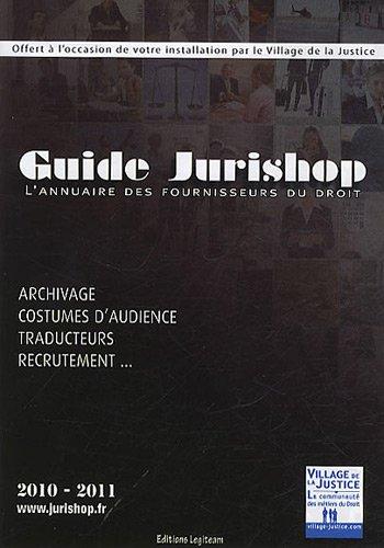 Guide Jurishop : L'annuaire des fournisseurs du droit par Legiteam