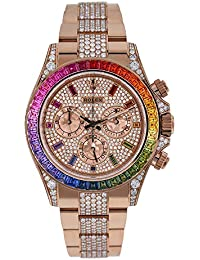 Rolex Daytona Diamond Rainbow Edition 116595RBOW - Reloj de Pulsera para Hombre (Oro Rosa de