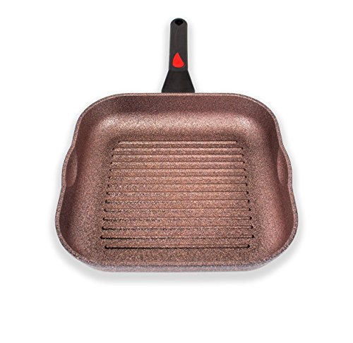 Alpha Square Grill Pan Korean Made 11 Inch with Deep ridges and Induction ready, iNoble Non-Stick Cookware Dishwasher Safe, Coated 10 layer total with 6 layers of iNoble Premium Coating PTFE,PFOA Free