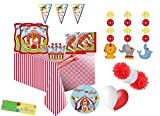 Creative IRPot - Kit N 63 Circus Party Coordinato ADDOBBI Festa Compleanno Fluffy