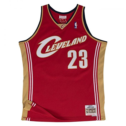 647450db9 Mitchell & Ness LeBron James #23 Cleveland Cavaliers 2003-04 Swingman NBA  Trikot Rot, XL