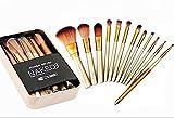 Lot de 12 pinceaux de maquillage Naked 3 dans une boîte