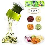 Spiralschneider,ANYOYO Gemüse Gemüsehobel Spiralschneider,Spiralschneider Hand für 4 Modi Manuell Gemüsespaghetti,3-Klingen Spiralschneider,zur Verarbeitung Ihres Gemüses und Obstsfür