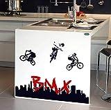 Mggzd Sticker Mural Vélo Bmx Décalcomanie D'Art Amovible De Bricolage