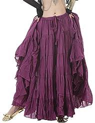 YiJee Costume Rétro Longue Tribale Gypsy Robe Vintage de Plage