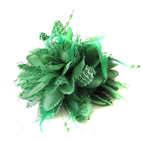 Etosell 8 couleurs Bridal Fleur Plume Perles Corsage Cheveux Clips Fascinator Hairband
