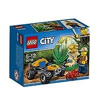 Salta sul buggy e parti per un'avventura nella misteriosa giungla di LEGO® City Prendi il tuo machete per tagliare le piante che bloccano la strada... cosa scoprirai? Fai solo attenzione al ragno gigante