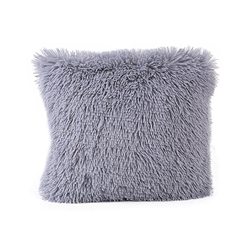 Kissen Cover Xinan Pillow Case Sofa Taille Throw Home Decor (43cm*43cm, G) Blau Grau Throw Blanket