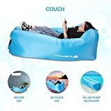 Icefox Waterproof Inflatable Sofa, Portable Air Sofa with carry bag, outdoor indoor air sleeping lay bag for Lounging| Camping| Beach|Fishing, ect