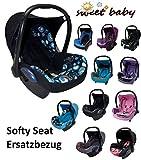 Sweet Baby ** SOFTY PROTECT CITI ** Kuschelig weicher und dick gepolsterter ERSATZBEZUG für Maxi Cosi CITI (Schwarz/Türkis/Kreise)