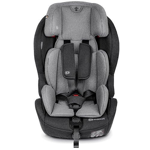 Kinderkraft SAFETYFIX ISOFIX Kindersitz Autokindersitz 9 bis 36 kg gruppe 1 2 3 (Schwarz-Grau)
