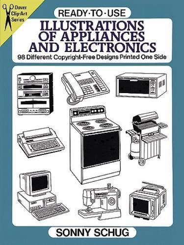 ready-to-use-illustrations-of-appliances-and-electronics-98-different-copyright-free-designs-printed