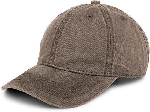 styleBREAKER 6-Panel Vintage Cap im washed, used Look, Baseball Cap, verstellbar, Unisex 04023054, Farbe:Taupe