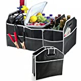 Nice Style 2 in 1 Heavy Duty Collapsible Car Boot Organiser Foldable Shopping Tidy Storage