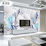 Tapete Experten, modernes minimalist3dthe Wohnzimmer Stereo-Hintergrund-Papier-Tapete mit Gemälde Seamless-Tuch,