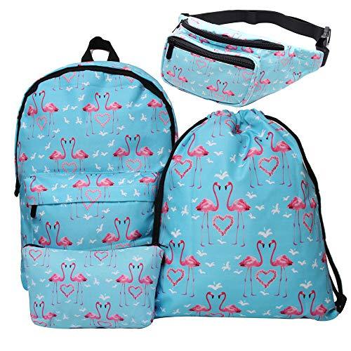 Giddah fashion colorato cute scuola flamingo delle ragazze zaini (42cm*39cm) per bambini set (#2)