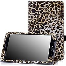 MoKo–Funda fina y plegable para Tablet Samsung Galaxy Note Pro 12.2, Tab 3Lite 7, Tab 47.0, Tab 48.0, Tab 410.1, Tab Pro 8.4, Tab Pro 10.1 marrón leopardo para Galaxy Tab 4 8,0
