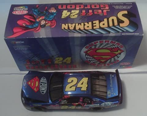 1999 - Action - NASCAR - Jeff Gordon #24 - DuPont / Superman Racing - Chevy Monte Carlo - Limited Edition - 1:24 Scale - Die Cast - Chrome Illusion Paint - Rare - Collectible - New by Corvette