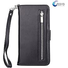 Custodia portafoglio BORA iPhone 6/6s PLUS con custodia posteriore smontabile, slot per carte, tasca di contanti, visione facile, stile Folio, protegge lo schermo dal graffio.