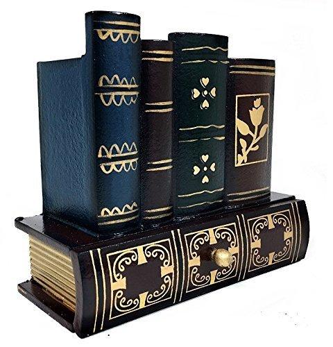 Uchic portamatite portapenne lettura in vetro da scrivania con cassetto inferiore biblioteca di design in legno