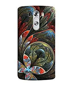 Fuson Designer Back Case Cover for LG G3 :: LG G3 Dual LTE :: LG G3 D855 D850 D851 D852 (Yellow Flower Checks Lines Stars)