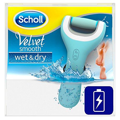 Scholl Velvet Smooth Pedi Pro Elektrischer Hornhautentferner, wiederaufladbar, Akku, Pediküre, Fußpflege, 1 Gerät inkl. Ladestation (Micro Pedi Geräte)