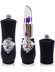 Lippenstift Mit Blume,EUZeo Kristalllippenstift heller Blume Gelee Lippenstift magische Temperaturwechsel Farbe Lippenbalsam Verfassung (B1)