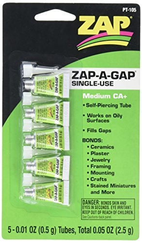 Price comparison product image Pacer Technology (Zap) Single Use Mini Tube Adhesives (5 Piece)