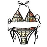 Kickboxing-Chick Bikini Women's Summer Swimwear Triangle Top Bikinis Swimsuit Sexy 2-Piece Set