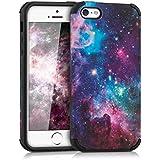 kwmobile Funda híbrida Diseño universo para Apple iPhone SE / 5 / 5S en multicolor rosa fucsia negro