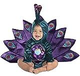 PrincessParadise Deluxe Pavo Real bebé Disfraz Turquesa Terciopelo Azul con Lentejuelas Refinado Carnaval Halloween