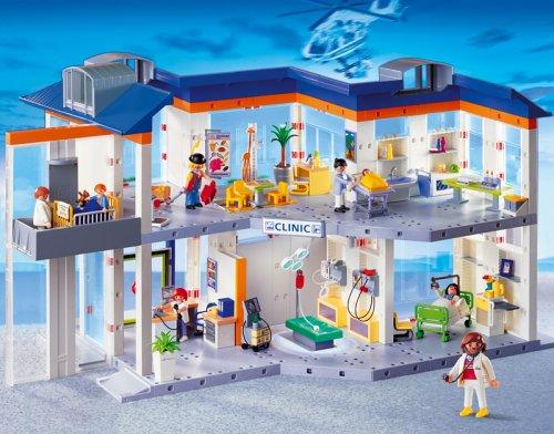 Preisvergleich Produktbild PLAYMOBIL® 4404 - Großes Krankenhaus mit Einrichtung