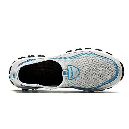 SITAILE Unisex Laufschuhe Outdoor Sport Freizeit Fitness Sneaker Schuhe Walkingschuhe Herren Grau blau