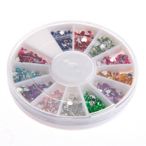 FACILLA® 300x Strass Coeur Déco pour Ongles Faux Naturels Manucure Nail Art Gel UV 2.0mm