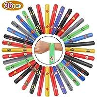 Ucradle 36 Pezzi Superhero Schiaffo Braccialetti Festa Slap Bracelets per Bambini, Divertenti e Super Slap Bands con Colorati, Idea Regalo per Bambini, Ragazze e Ragazzi