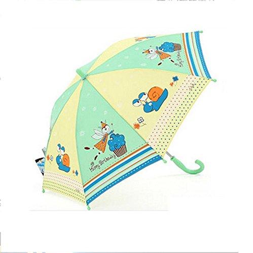 KHSKX I bambini maschii e femminili dei cartoni sole pulire manualmente un ombrello, ombrelloni ombrellone UV protezione pioggia o a duplice uso, amore del bambino , H