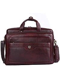 Hammonds Flycatcher Original Bombay Brown Leather 16 inch Expandable Laptop Messenger Bag (L=40,B=18, H=29 cm) LB162