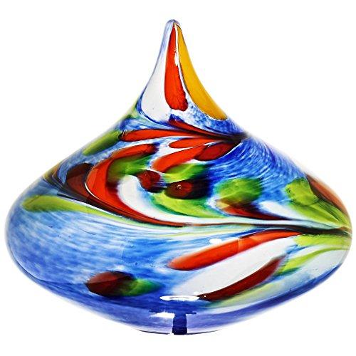 ArtGlass Gartenkegel, Gartendeko, Dekoartikel KREISEL blau, ca. 20 cm, moderner Style (ART GLAS powered by CRISTALICA)