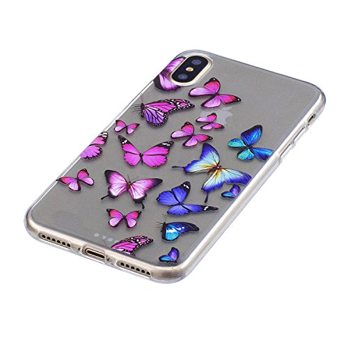 Custodia per iPhoneX(5,8pouces) ,JIENI Ragazza sexy Trasparente TPU Stent misto Cover Coperchio Flessibile Sottile Protettivo Morbido Silicone Custodia Skin Bumper Case per iPhoneX(5,8pouces) FD56