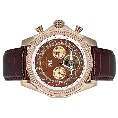 Constantin Durmont Progressive - Reloj analógico de caballero automático con correa de piel marrón - sumergible a 30 metros de Constantin Durmont
